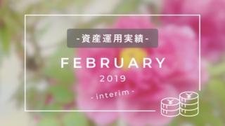 資産運用実績2019年2月中間